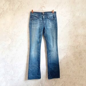 7 For All Mankind Bootcut Blue Jeans Rhinestone 27